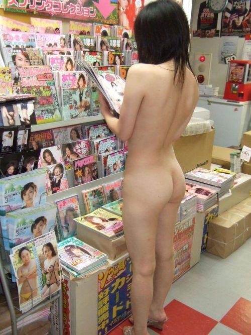 ショップ内や車内など屋内で全裸露出しちゃう女の子のエロ画像 36枚 No.7