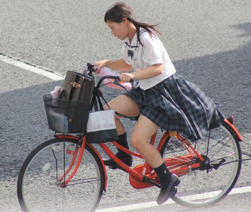 自転車通学中JKのお尻から見えちゃうパンチラを厳選したエロ画像 38枚 No.2