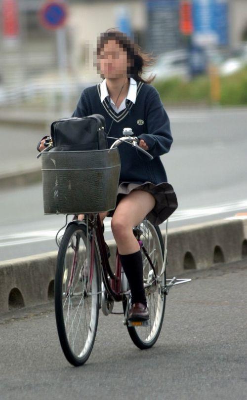 自転車通学中JKのお尻から見えちゃうパンチラを厳選したエロ画像 38枚 No.11