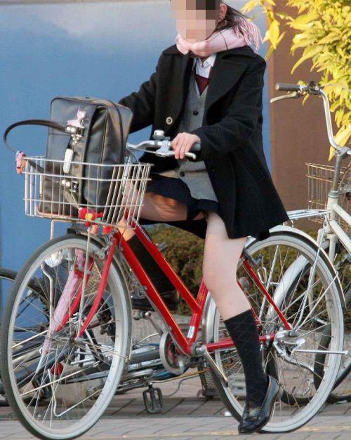 自転車通学中JKのお尻から見えちゃうパンチラを厳選したエロ画像 38枚 No.14