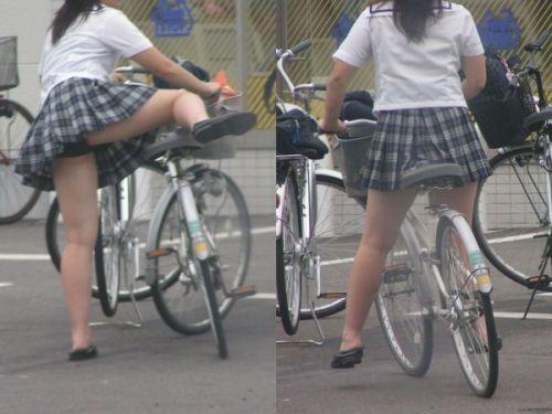 自転車通学中JKのお尻から見えちゃうパンチラを厳選したエロ画像 38枚 No.35