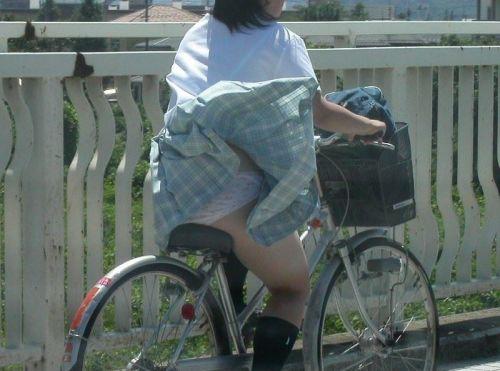 自転車通学中JKのお尻から見えちゃうパンチラを厳選したエロ画像 38枚 No.37