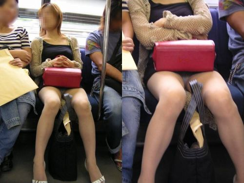 電車内で美脚を見せつけるミニスカ生脚ギャル限定盗撮エロ画像 31枚 No.1