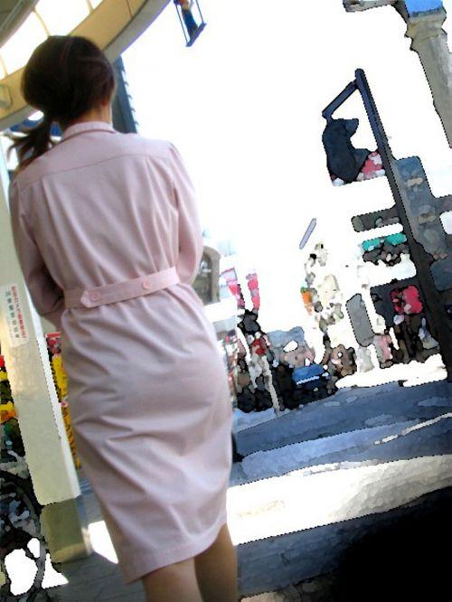 看護師さんのナース服から透けたパンティラインに勃起しちゃうエロ画像 31枚 No.6