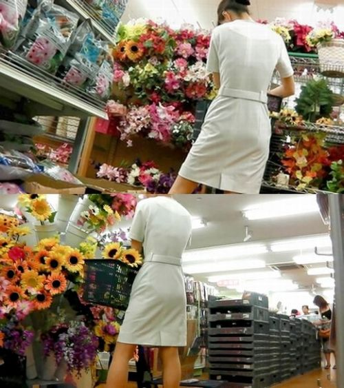 看護師さんのナース服から透けたパンティラインに勃起しちゃうエロ画像 31枚 No.24