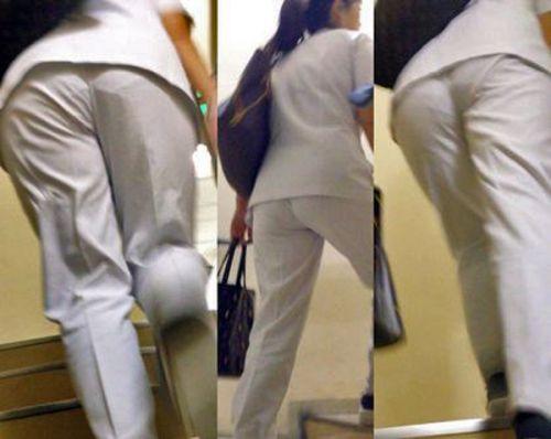 看護師さんのナース服から透けたパンティラインに勃起しちゃうエロ画像 31枚 No.27