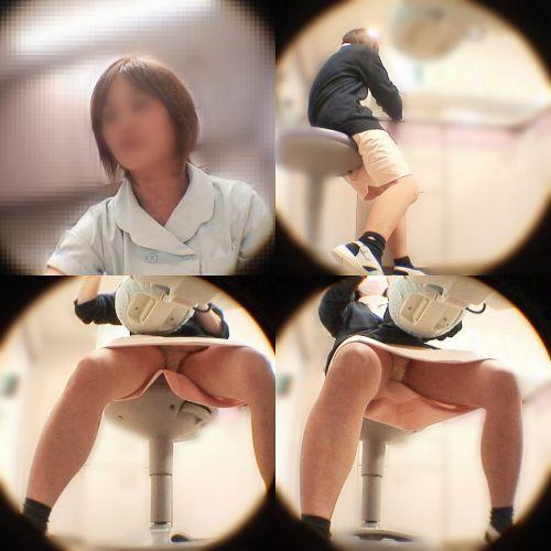 仕事中の歯科衛生士の座りパンチラや逆さ撮り盗撮したエロ画像 32枚 No.31