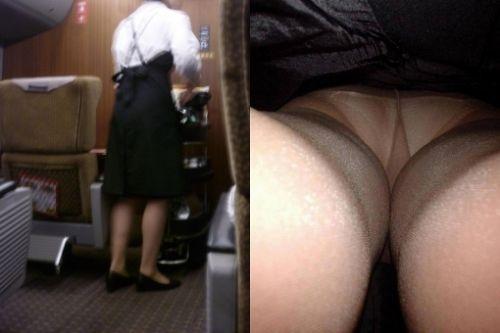 新幹線の制服を着た売り子さん限定で逆さ撮り盗撮したエロ画像 61枚 No.5