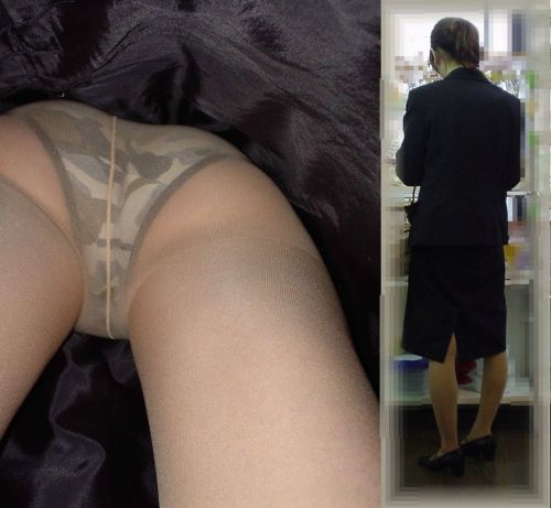 新幹線の制服を着た売り子さん限定で逆さ撮り盗撮したエロ画像 61枚 No.9