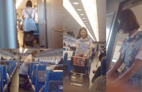 新幹線の制服を着た売り子さん限定で逆さ撮り盗撮したエロ画像 61枚 No.22