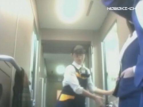 新幹線の制服を着た売り子さん限定で逆さ撮り盗撮したエロ画像 61枚 No.38