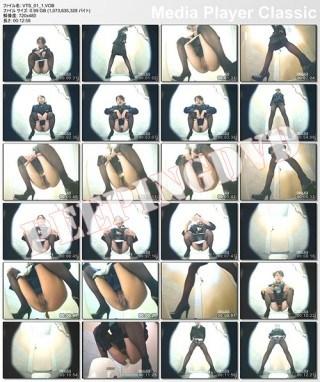 スチュワーデスのお姉さんがトイレで排泄物を出しちゃう盗撮エロ画像 48枚 No.24