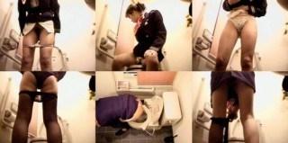 スチュワーデスのお姉さんがトイレで排泄物を出しちゃう盗撮エロ画像 48枚 No.28