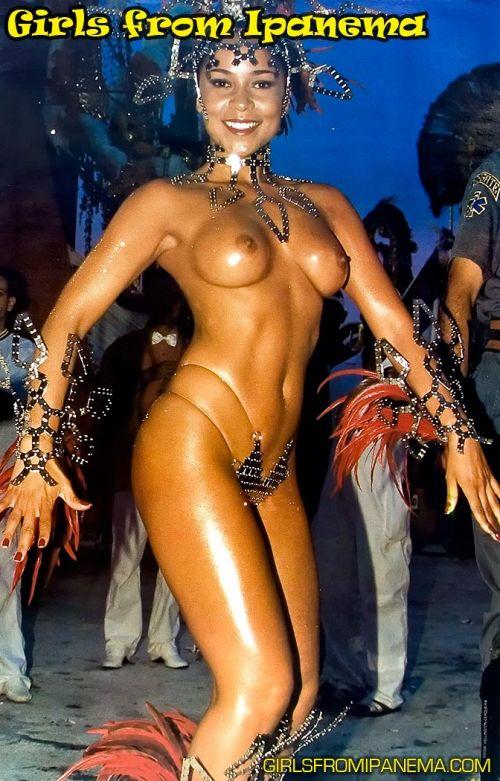 サンバカーニバルで巨乳外国人がおっぱい丸出しなエロ画像 35枚 No.22