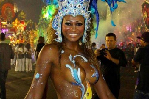 サンバカーニバルで巨乳外国人がおっぱい丸出しなエロ画像 35枚 No.23