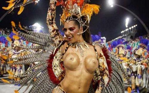 サンバカーニバルで巨乳外国人がおっぱい丸出しなエロ画像 35枚 No.29