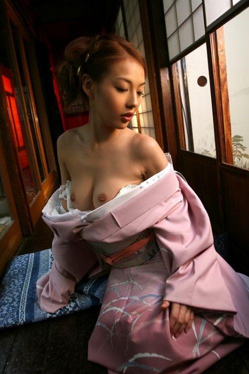 和服美人がおっぱい丸出しで色気全開なエロ画像まとめ 37枚 No.27