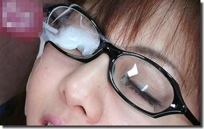 黒縁眼鏡の真面目そうな女の子の眼鏡にザーメンぶっかけエロ画像 33枚 No.1