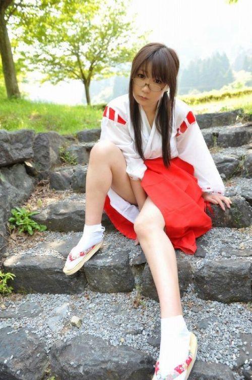 【勃起注意】巫女服コスプレ女子とイケナイことをしちゃうエロ画像 31枚 No.25