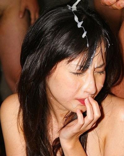 お姉さんの綺麗な髪の毛を汚したい!ザーメンぶっかけ髪射画像 39枚 No.23