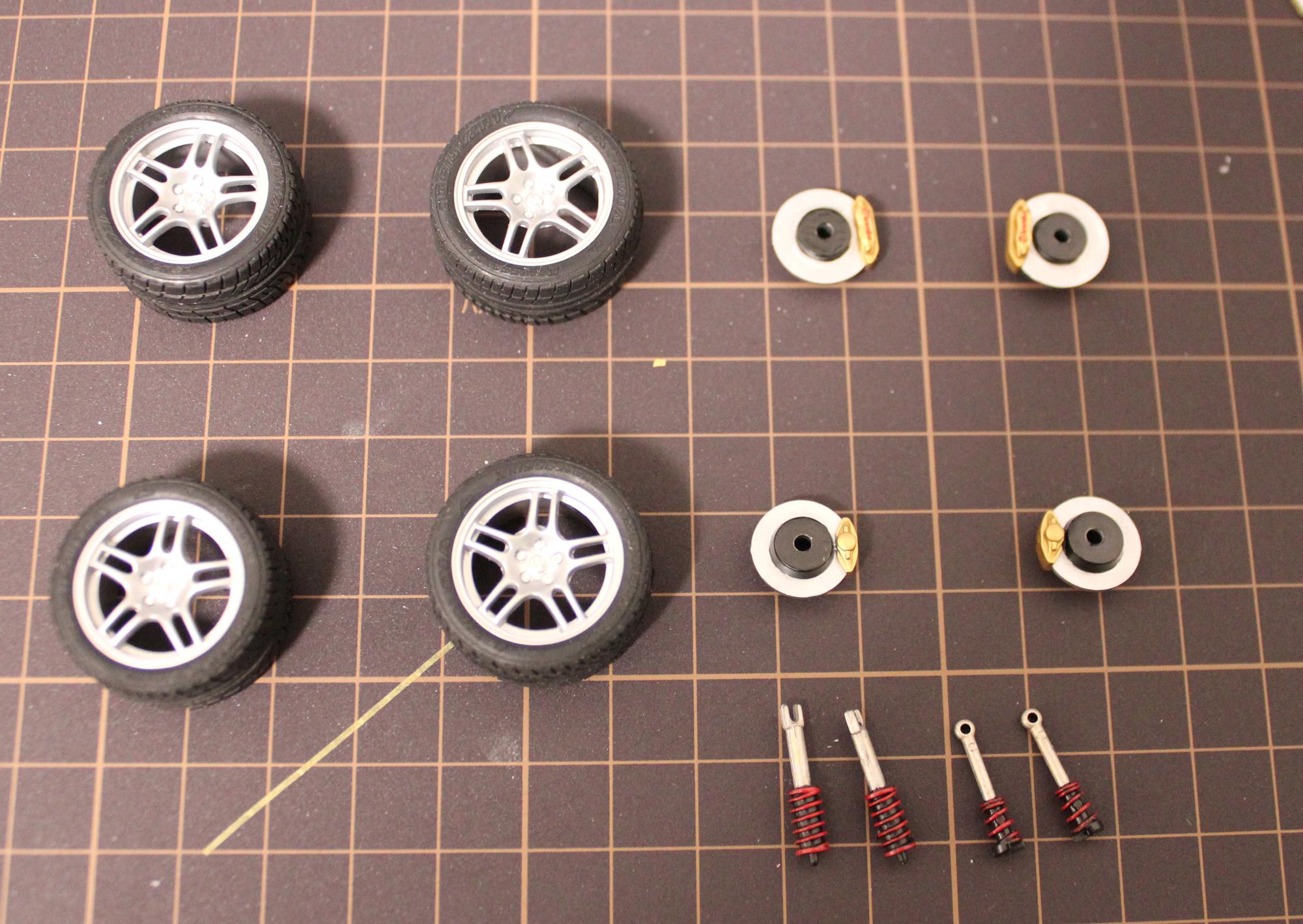 R33-GT-Rタイヤ、サス