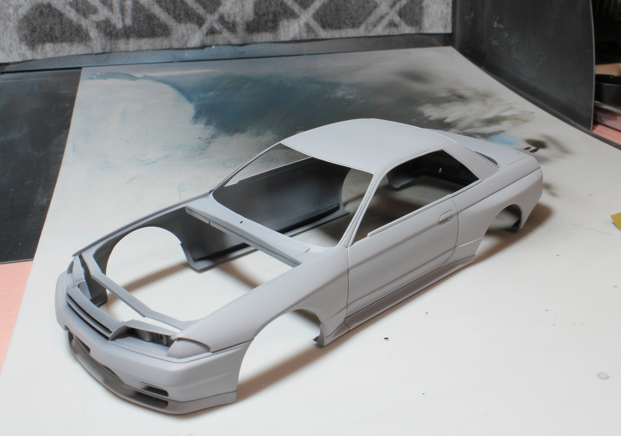 R32ボディー修正サフ後2