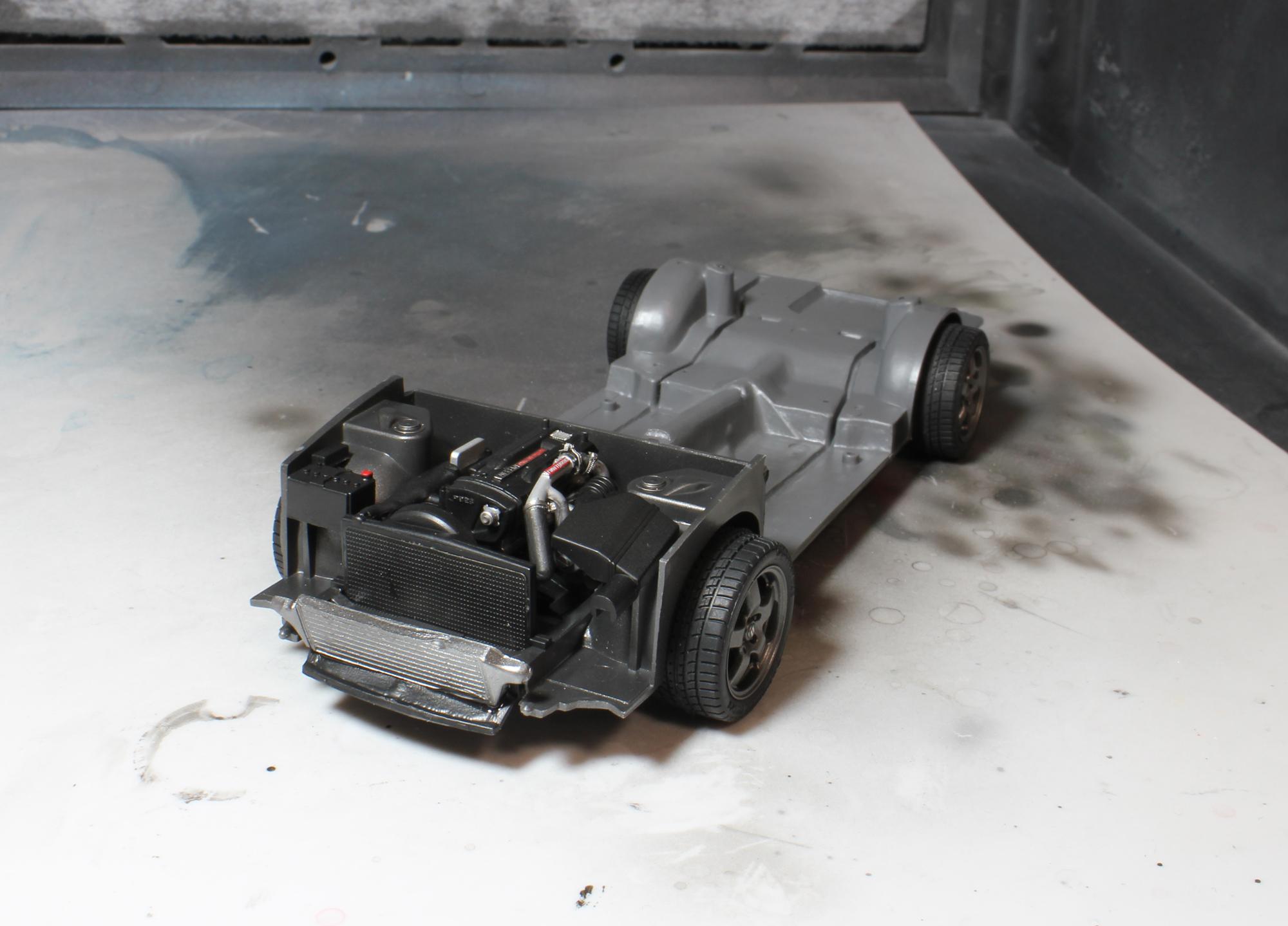 R32シャーシインタークーラー付