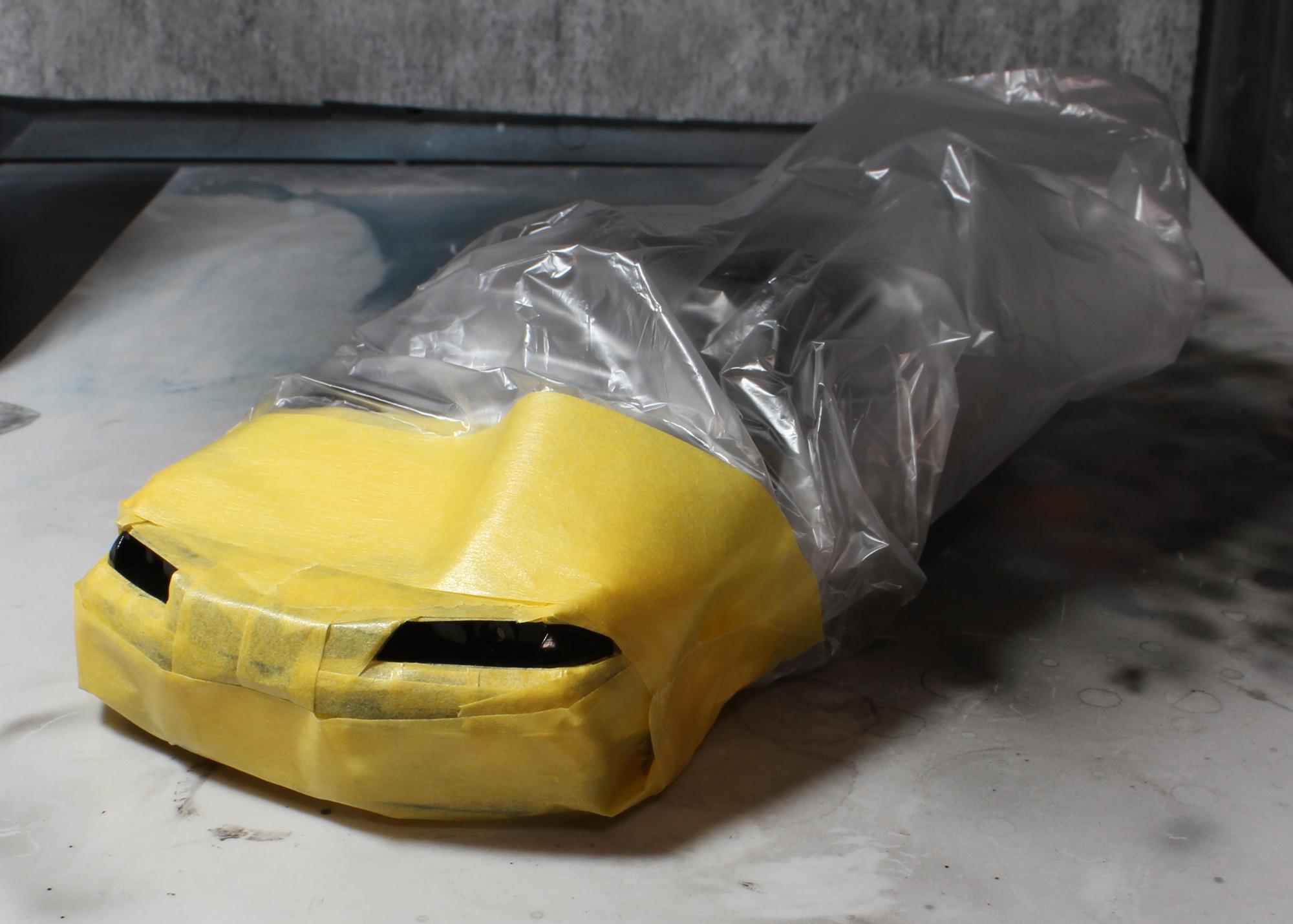 R32ヘッドライトリフレクターマスキング
