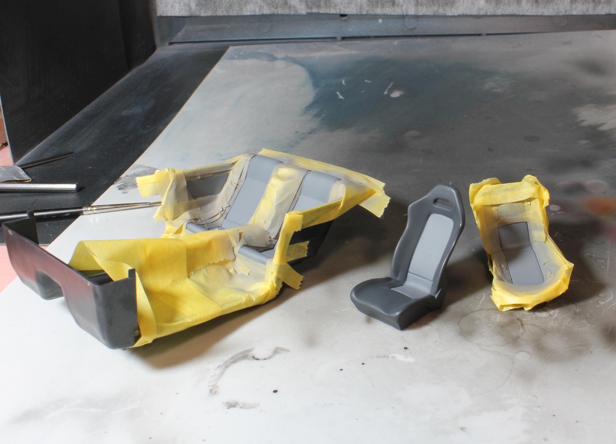 R32室内マスキング塗装