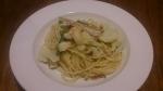 白身魚のスパゲティ