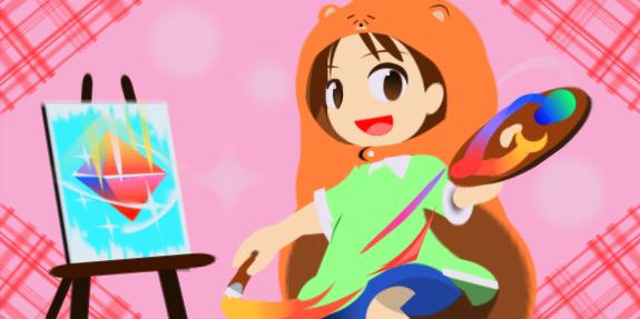 虹描いたよ