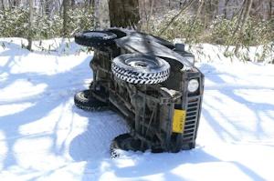 雪道で転倒