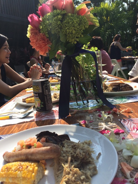 式料理テーブルの上