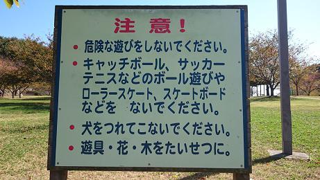 ⑤さくらの丘にある看板には『犬をつれてこないでください』と、書かれています。