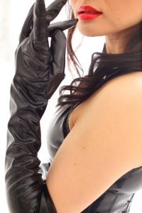 エナメル肘上手袋