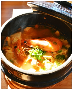 シーフード豆腐チゲ