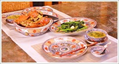 中華で夕飯