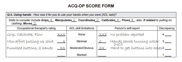 ACQOP採点