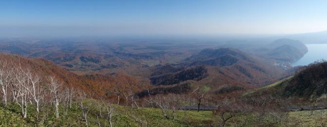 紋別岳山頂からの眺め(パノラマ)