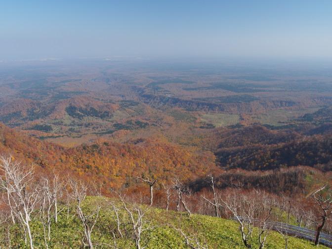 紋別岳山頂からの眺め