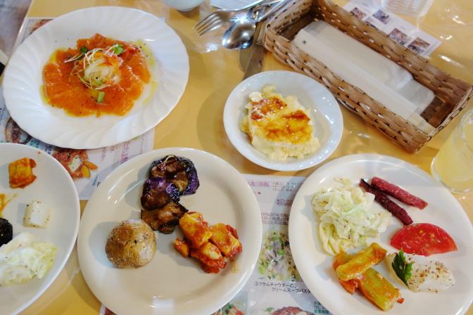 リストランテクレス長沼ビュッフェの料理