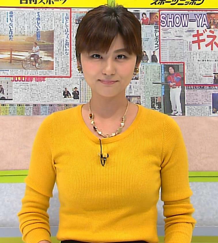 宇賀なつみ セーターキャプ・エロ画像2