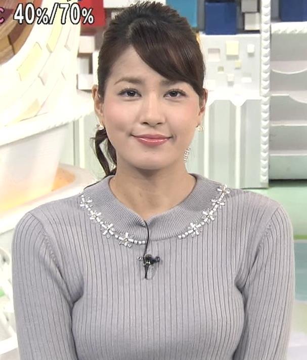 永島優美 セーターキャプ・エロ画像2