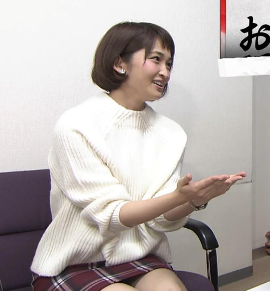 岡本玲 ミニスカート画像