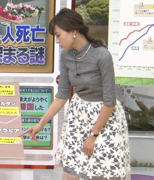 笹川友里 美人アナの薄着横乳