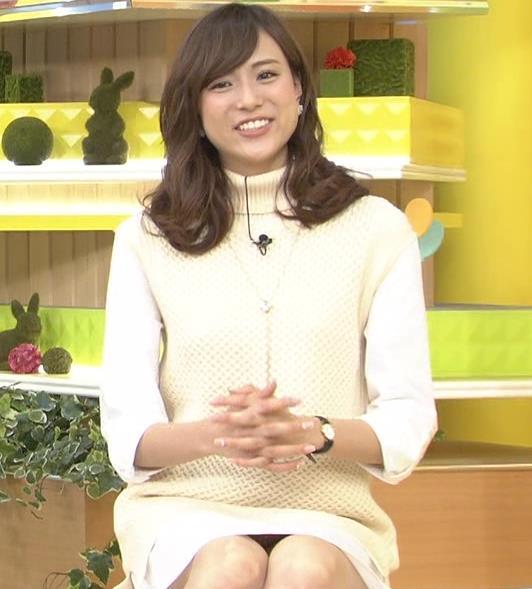 笹川友里 ミニスカ▼ゾーン、パンツの柄までみえてる?