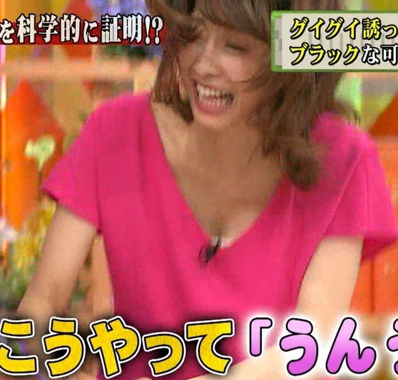 加藤綾子 ホンマでっかTVで胸の谷間が映っていた
