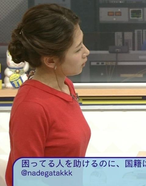 桑子真帆 横乳強調!