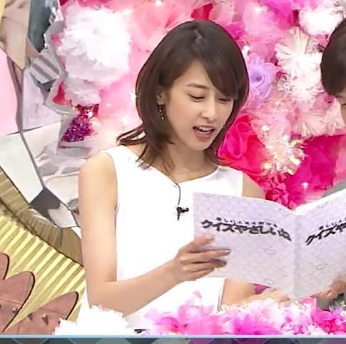 加藤綾子 白いノースリーブのワンピース