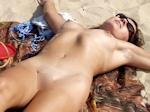 ヌーディストビーチ全裸女性 盗撮ヌード画像 15